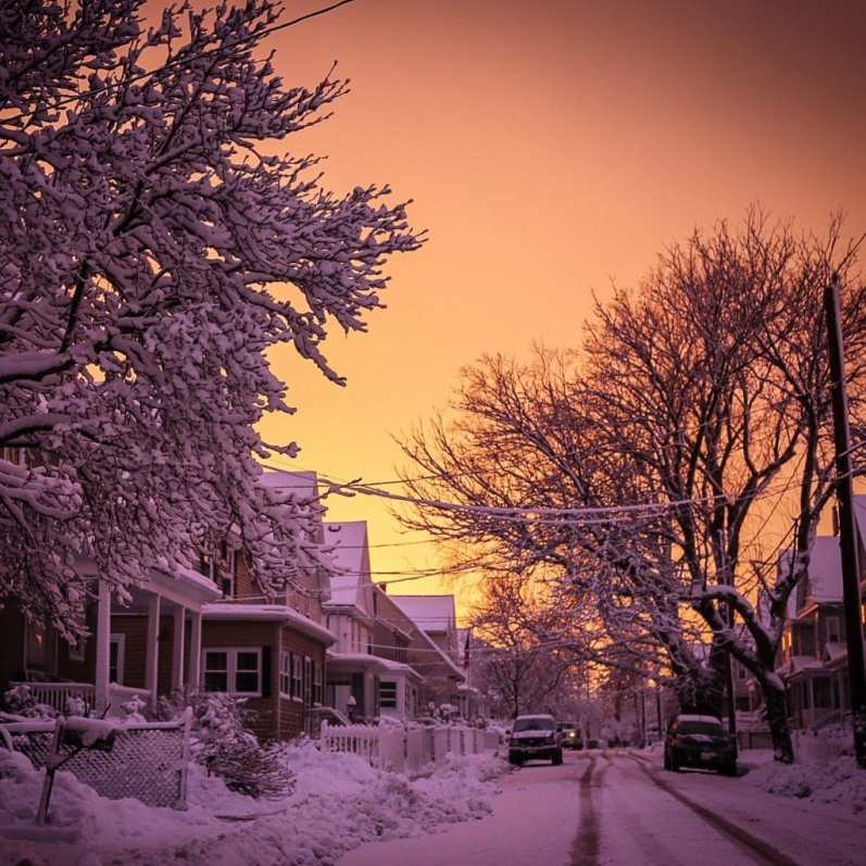 Snowy Sunset