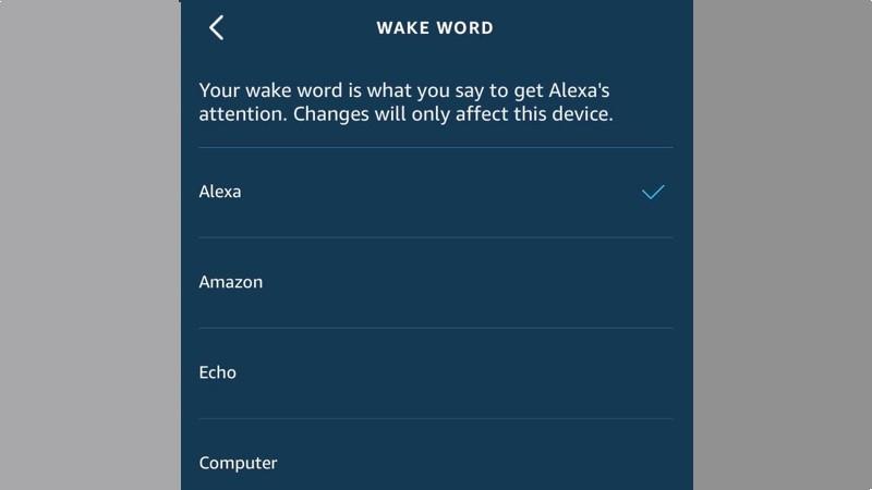 Cómo cambiar la palabra de estela de Alexa