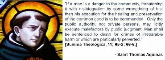 Saint Thomas Aquinas Death Penalty
