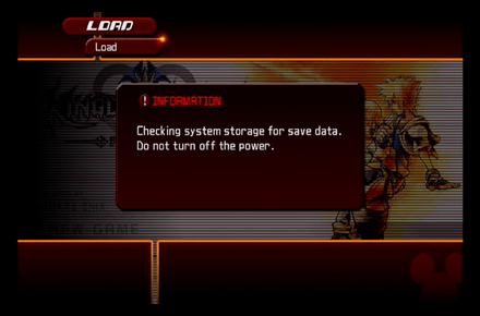 Save game loading in Kingdom Hearts II