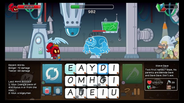Letter Quest Remastered Booger Typo