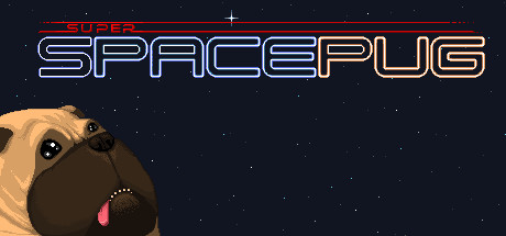 Super Space Pug Logo