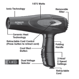 Infiniti Pro Conair Hair Dryer With Folding Handle Review