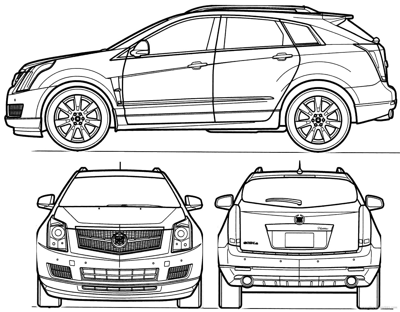 Blueprints Gt Cars Gt Cadillac Gt Cadillac Srx