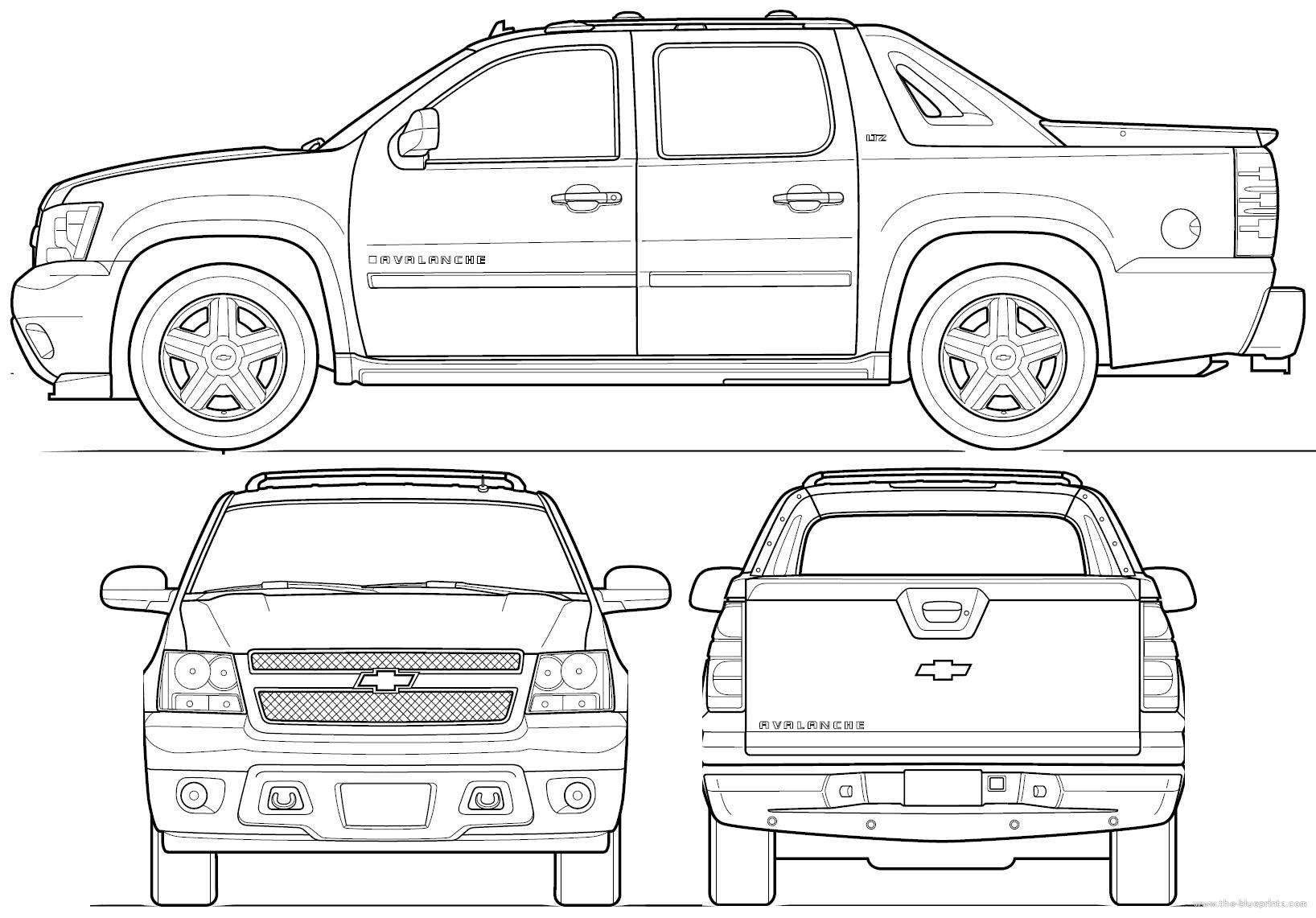Blueprints Gt Cars Gt Chevrolet Gt Chevrolet Avalanche