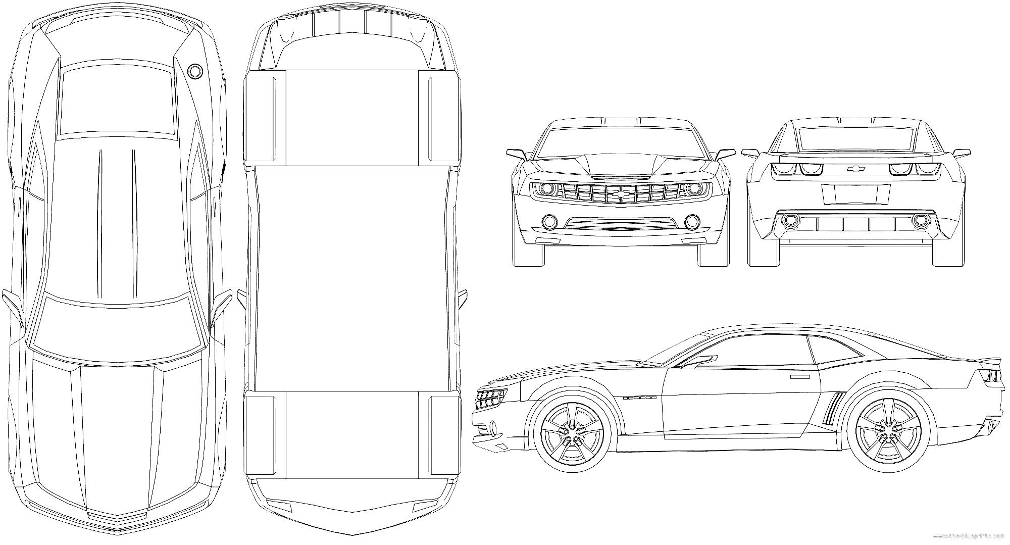 Blueprints Gt Cars Gt Chevrolet Gt Chevrolet Camaro