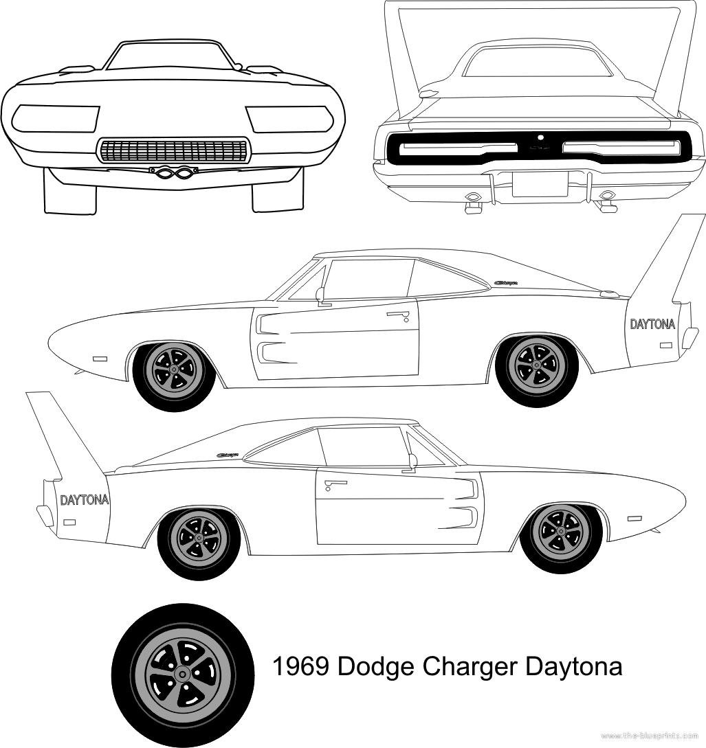 Blueprints Gt Cars Gt Dodge Gt Dodge Charger Daytona