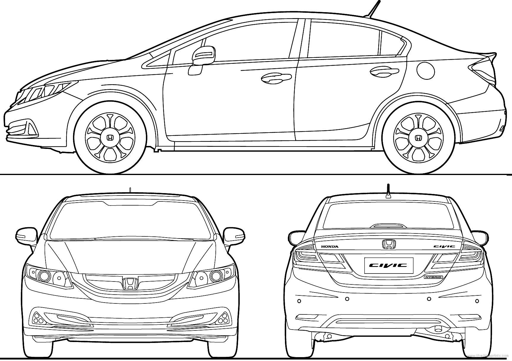 Blueprints Gt Cars Gt Honda Gt Honda Civic 4 Door