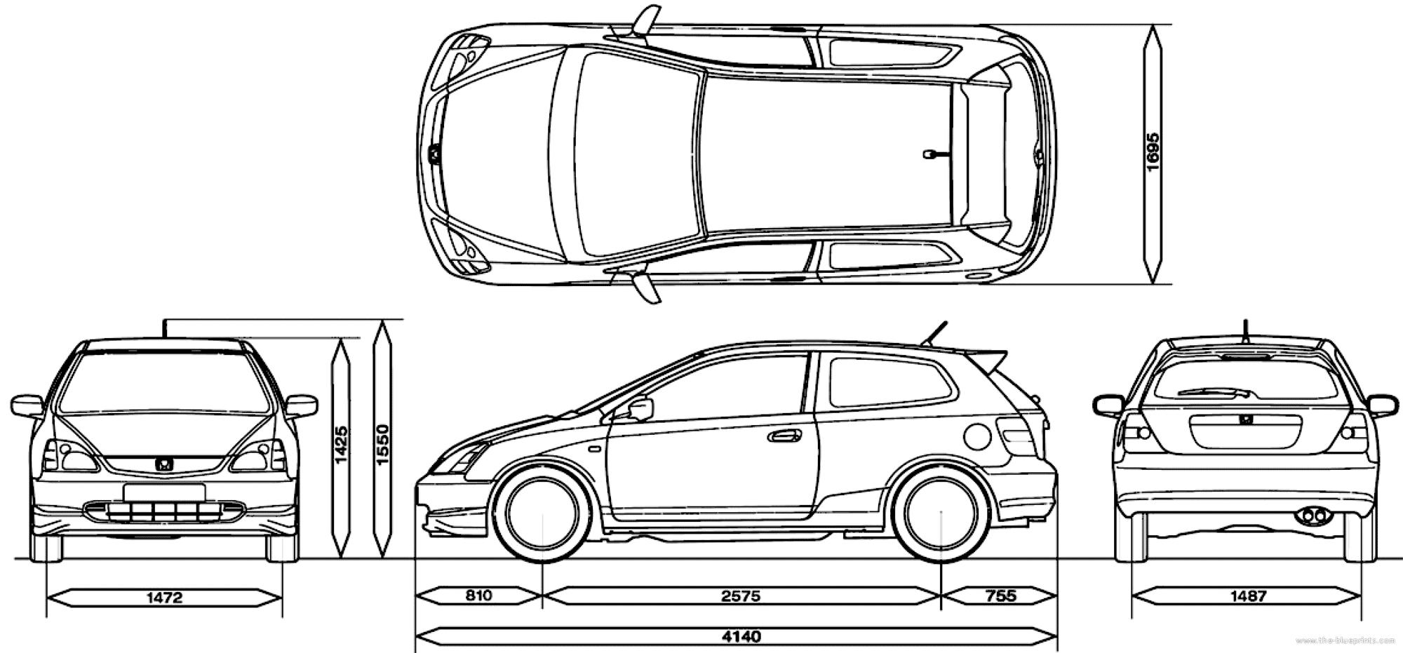 Blueprints Gt Cars Gt Honda Gt Honda Civic Type R