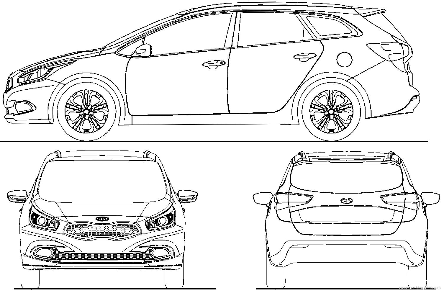 Blueprints Gt Cars Gt Kia Gt Kia Cee D Sporty Wagon