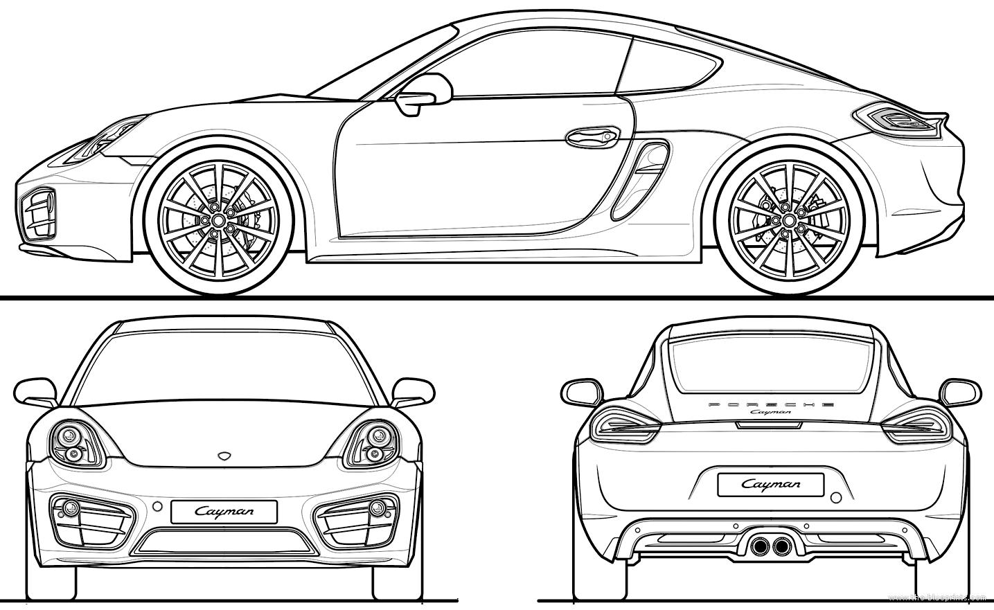 Blueprints Gt Cars Gt Porsche Gt Porsche Cayman