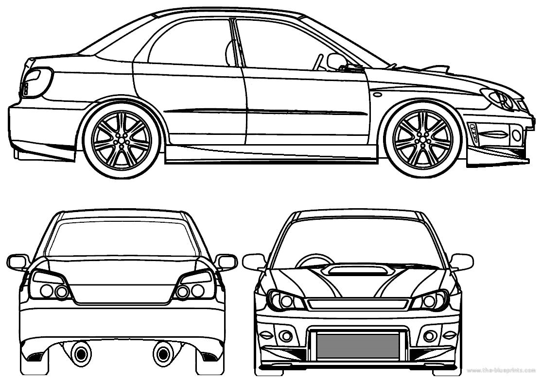 Blueprints Gt Cars Gt Subaru Gt Subaru Impreza Sti Tuned