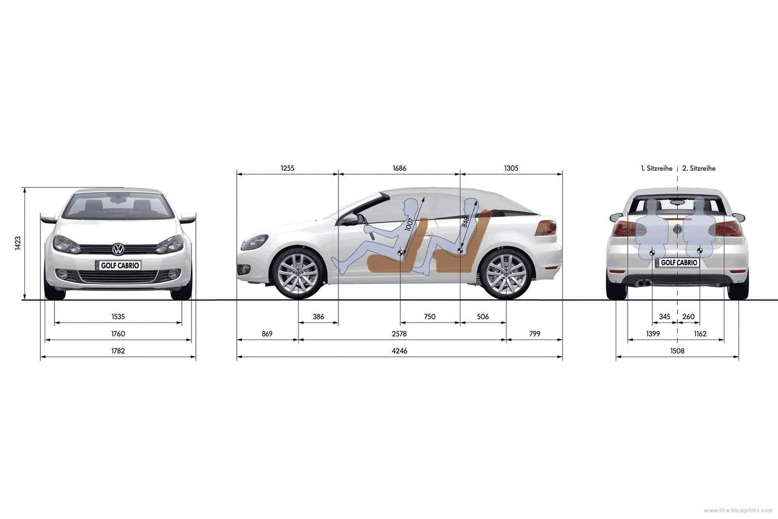 Blueprints Gt Cars Gt Volkswagen Gt Volkswagen Golf Vi Cabrio