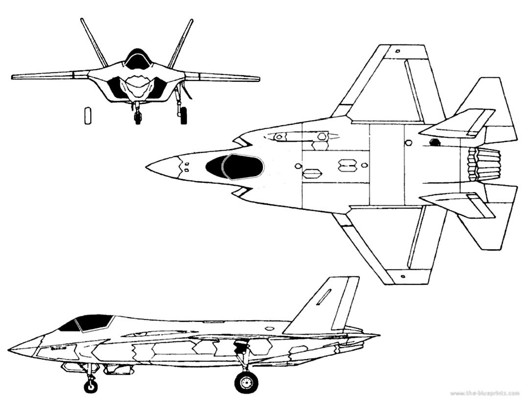 Blueprints Gt Modern Airplanes Gt Lockheed Gt Lockheed Martin Xf 35 Lightning Ii
