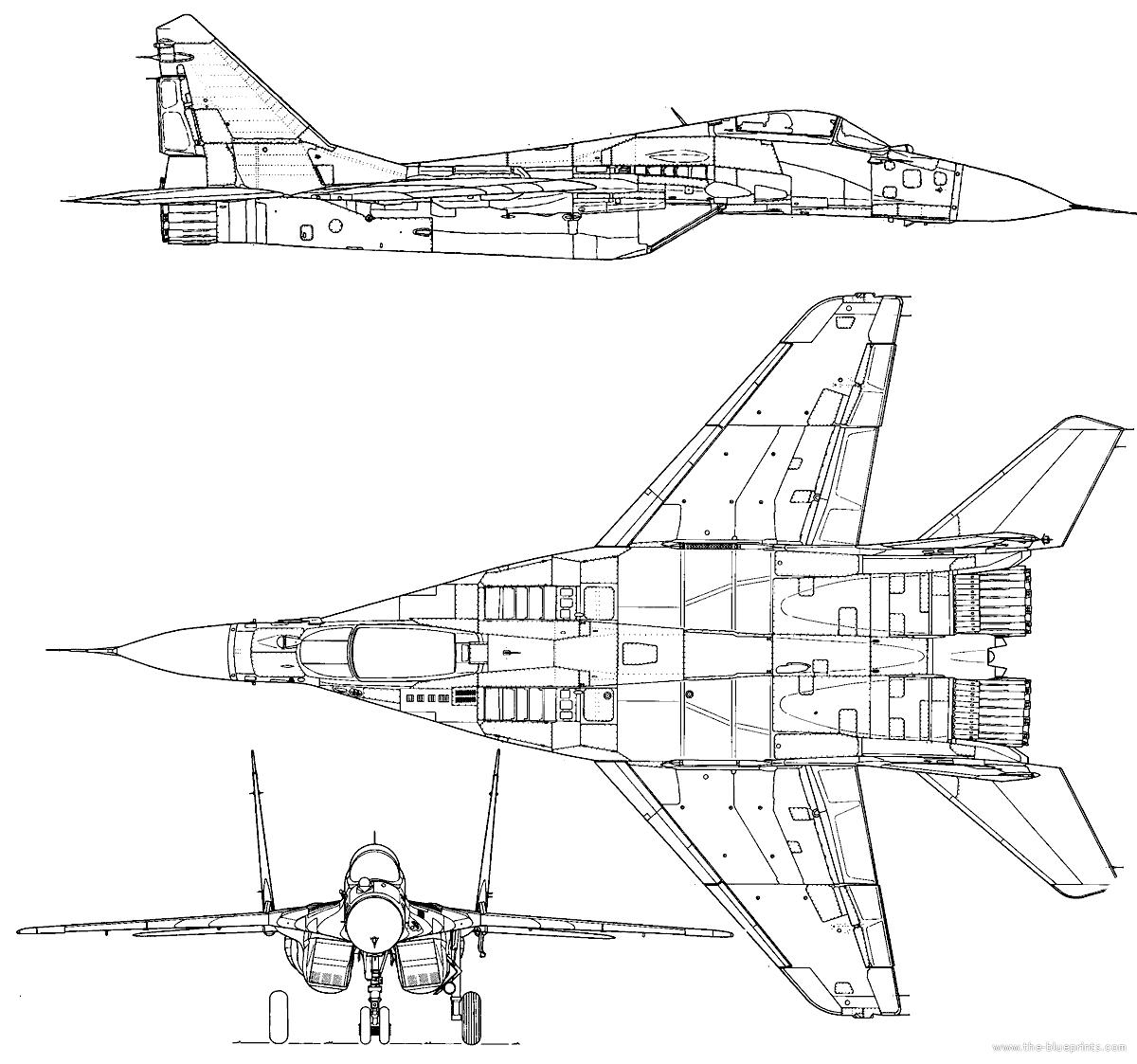 Blueprints Gt Modern Airplanes Gt Mikoyan Gurevich Mig