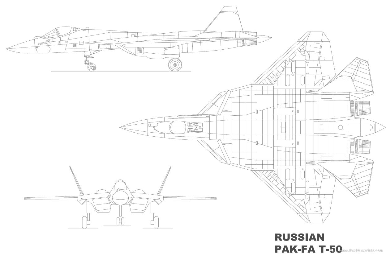 Blueprints Gt Modern Airplanes Gt Sukhoi Gt Sukhoi Pak Fa T 50