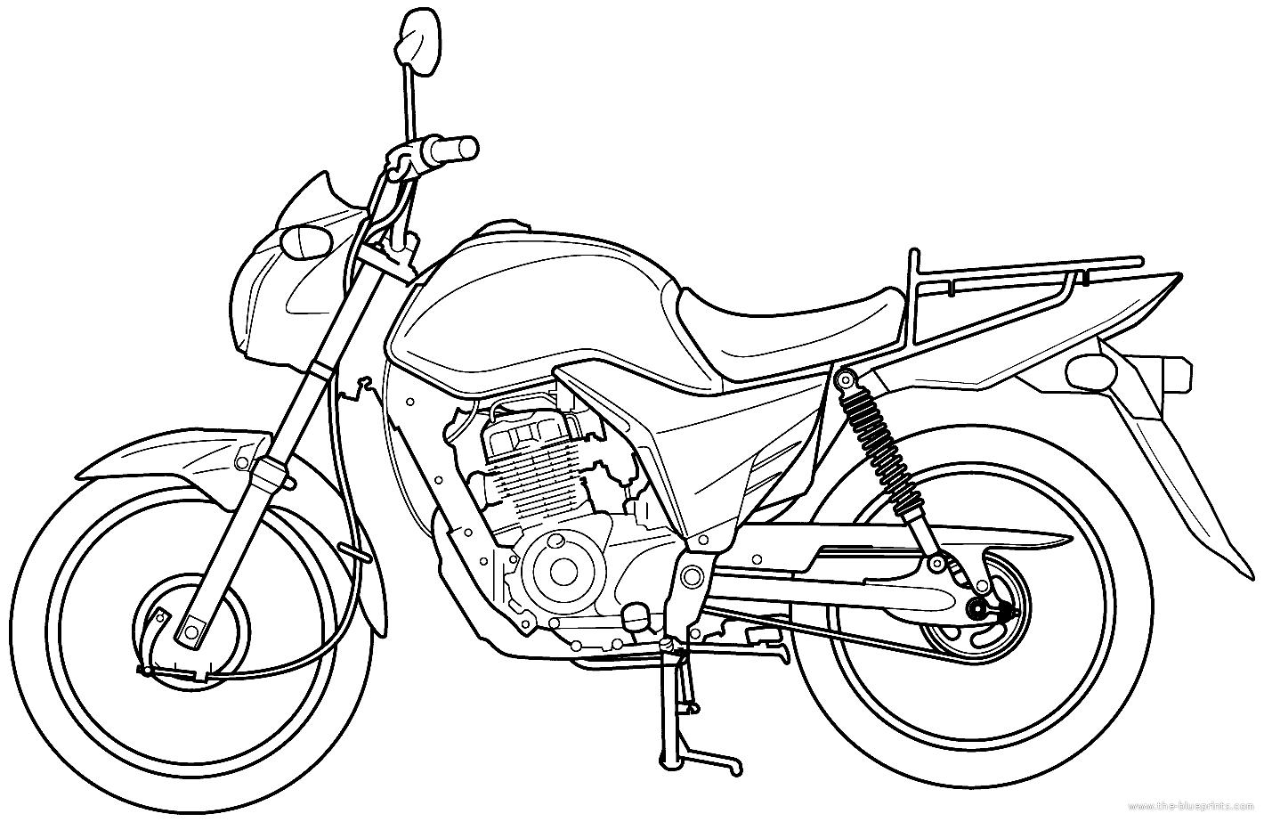 Blueprints Gt Motorcycles Gt Honda Gt Honda Cg 125 Cargo Ks