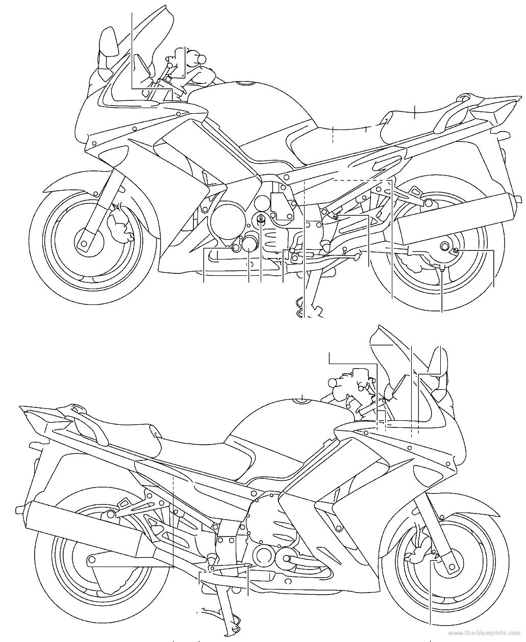 Blueprints Gt Motorcycles Gt Yamaha Gt Yamaha Fjr As