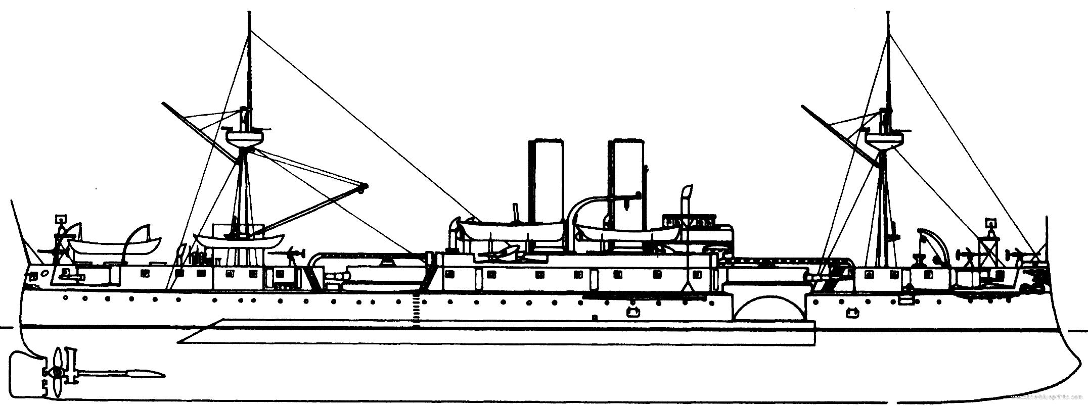 Blueprints Gt Ships Gt Battleships Us Gt Uss Acr 1 Maine