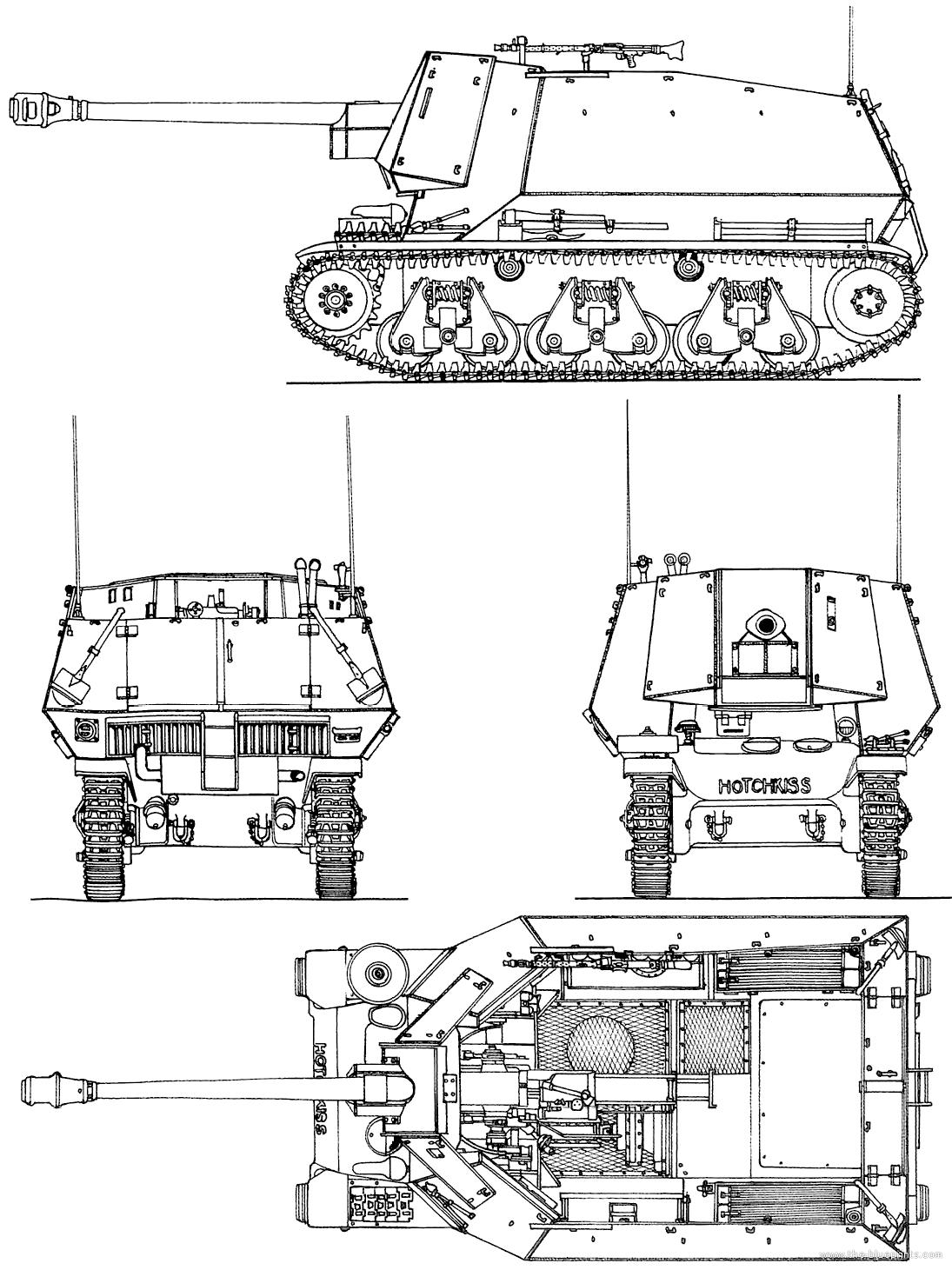 Blueprints Gt Tanks Gt Tanks 1 9 Gt 7 5cm Pak 40 Sf Auf Geschutzwagen 39 F