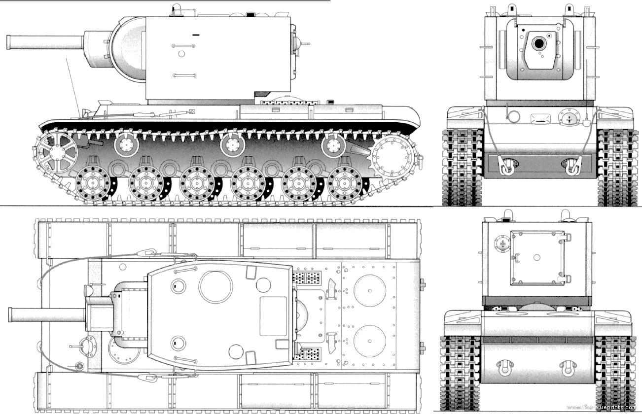 Blueprints Gt Tanks Gt Tanks K L Gt Kv 2 M