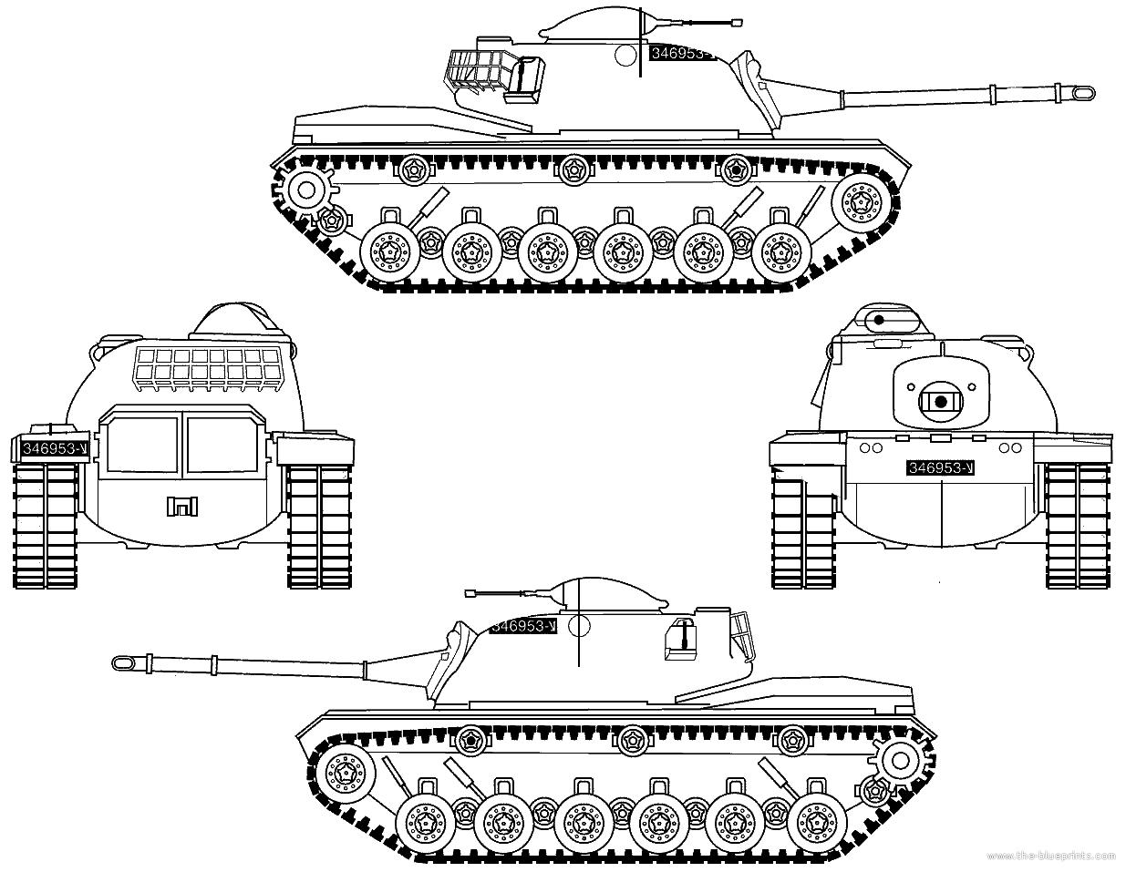 Blueprints Gt Tanks Gt Tanks M Gt M48a2 Patton