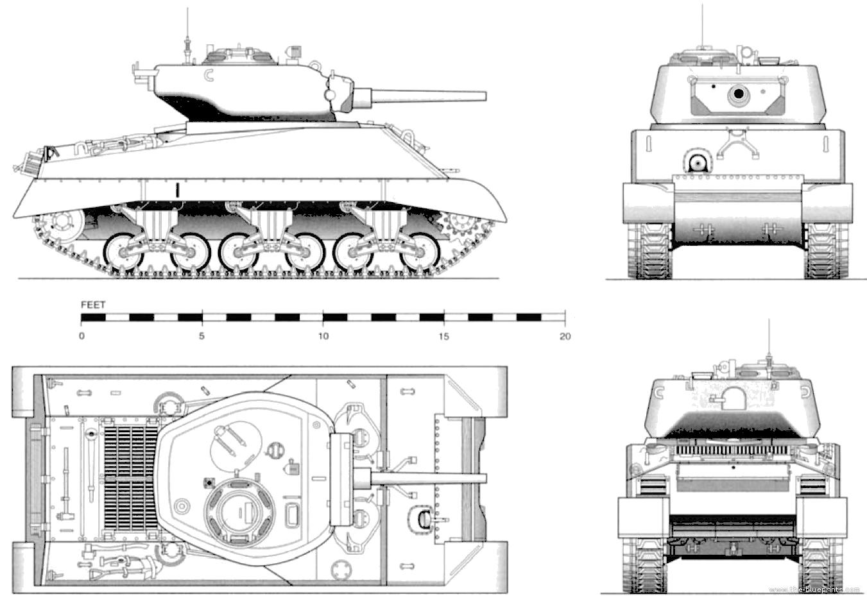 Blueprints Gt Tanks Gt Tanks M Gt M4a3e2 Sherman
