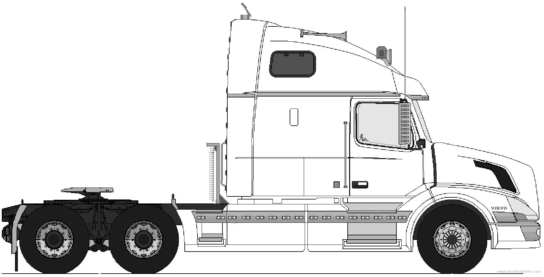 Blueprints Gt Trucks Gt Volvo Gt Volvo Vn 770 6x4 Tractor Unit