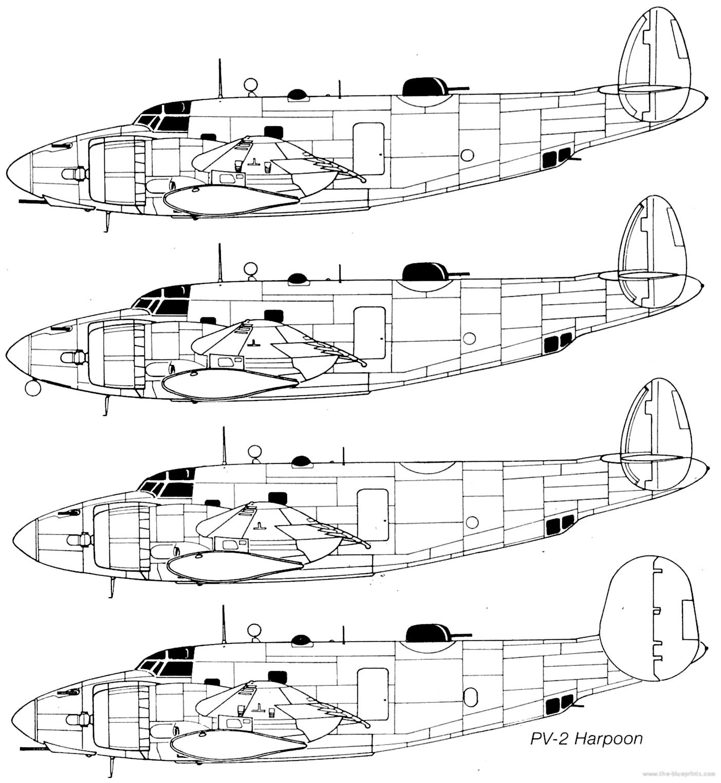 Blueprints Gt Ww2 Airplanes Gt Lockheed Gt Lockheed Vega Pv 1