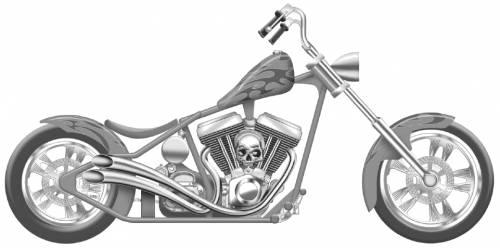 Pencil Drawings Harley Motorcycles Davidson