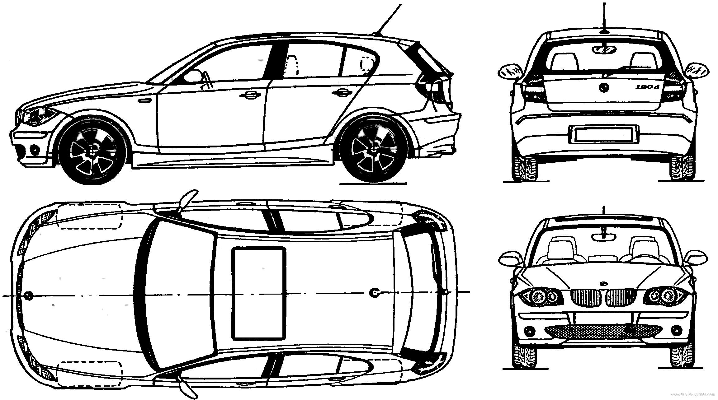 Kleurplaat Autos Bmw 1 Serie Kidkleurplaat