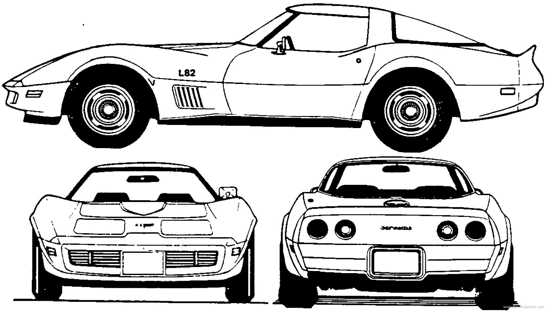 Corvette Blueprints The Car Space