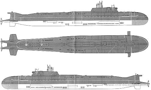 Kursk Submarine Schematics