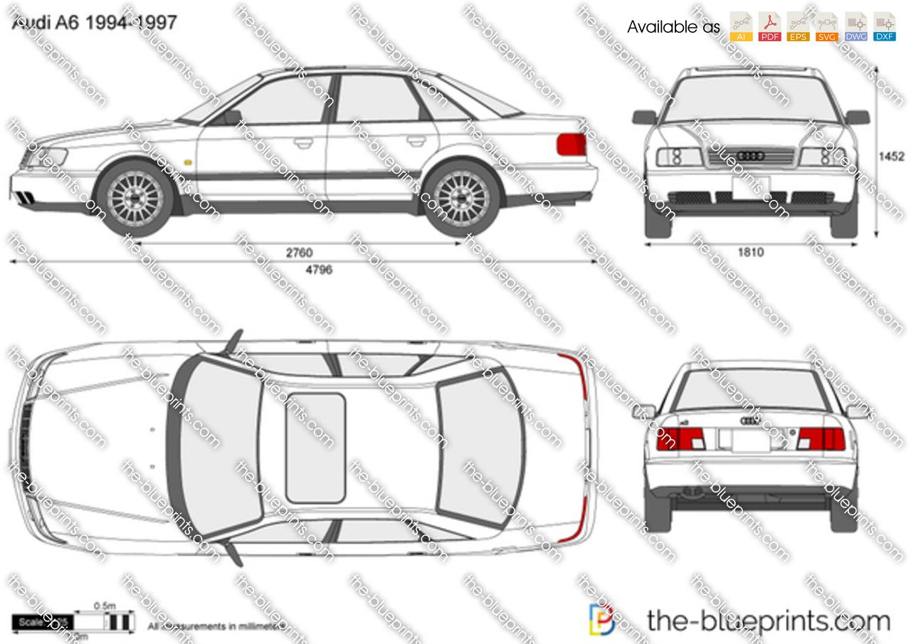 Audi A6 Vector Drawing