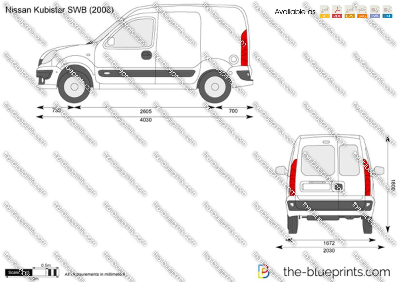 Nissan Kubistar Swb Vector Drawing