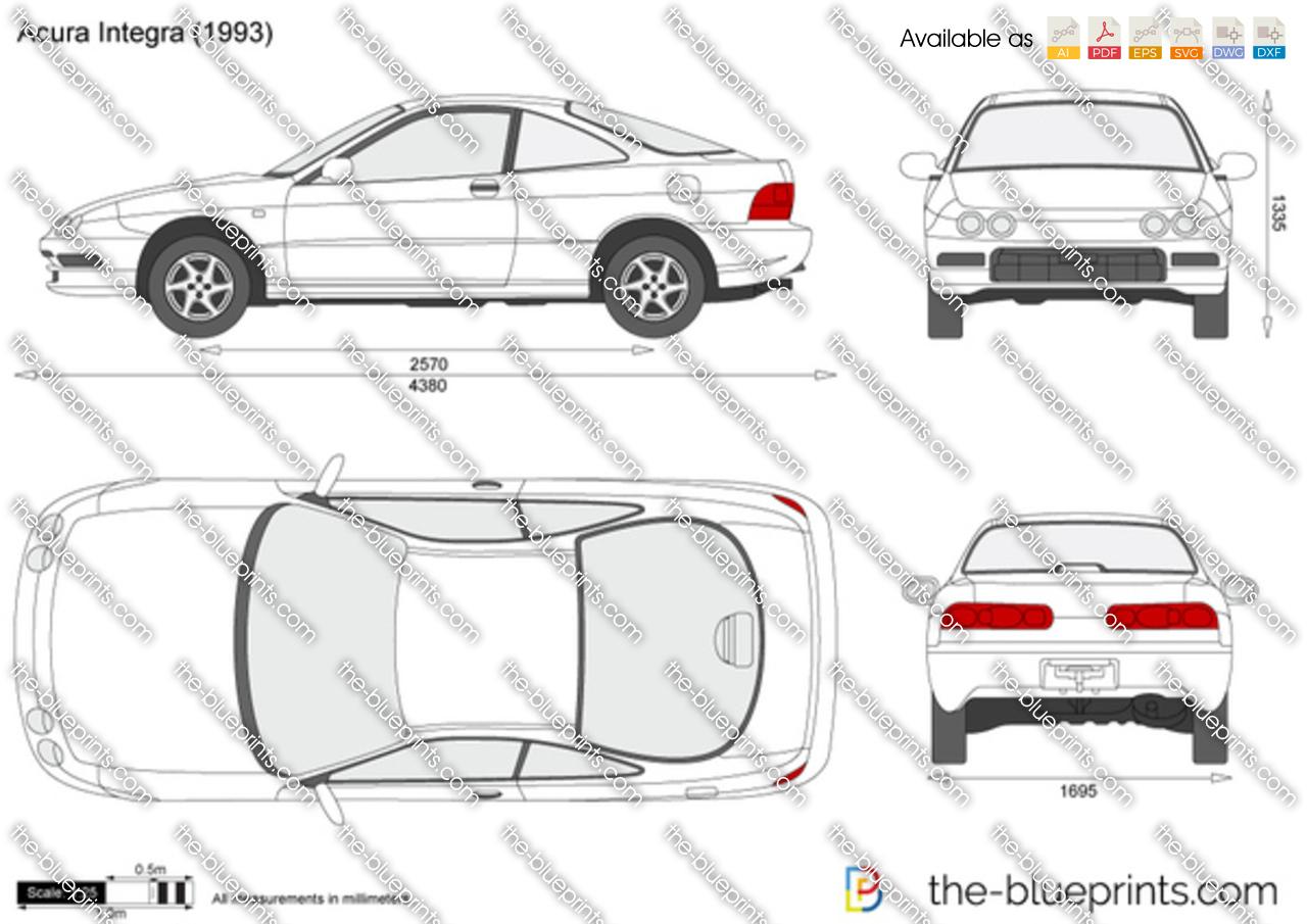Acura Integra Vector Drawing