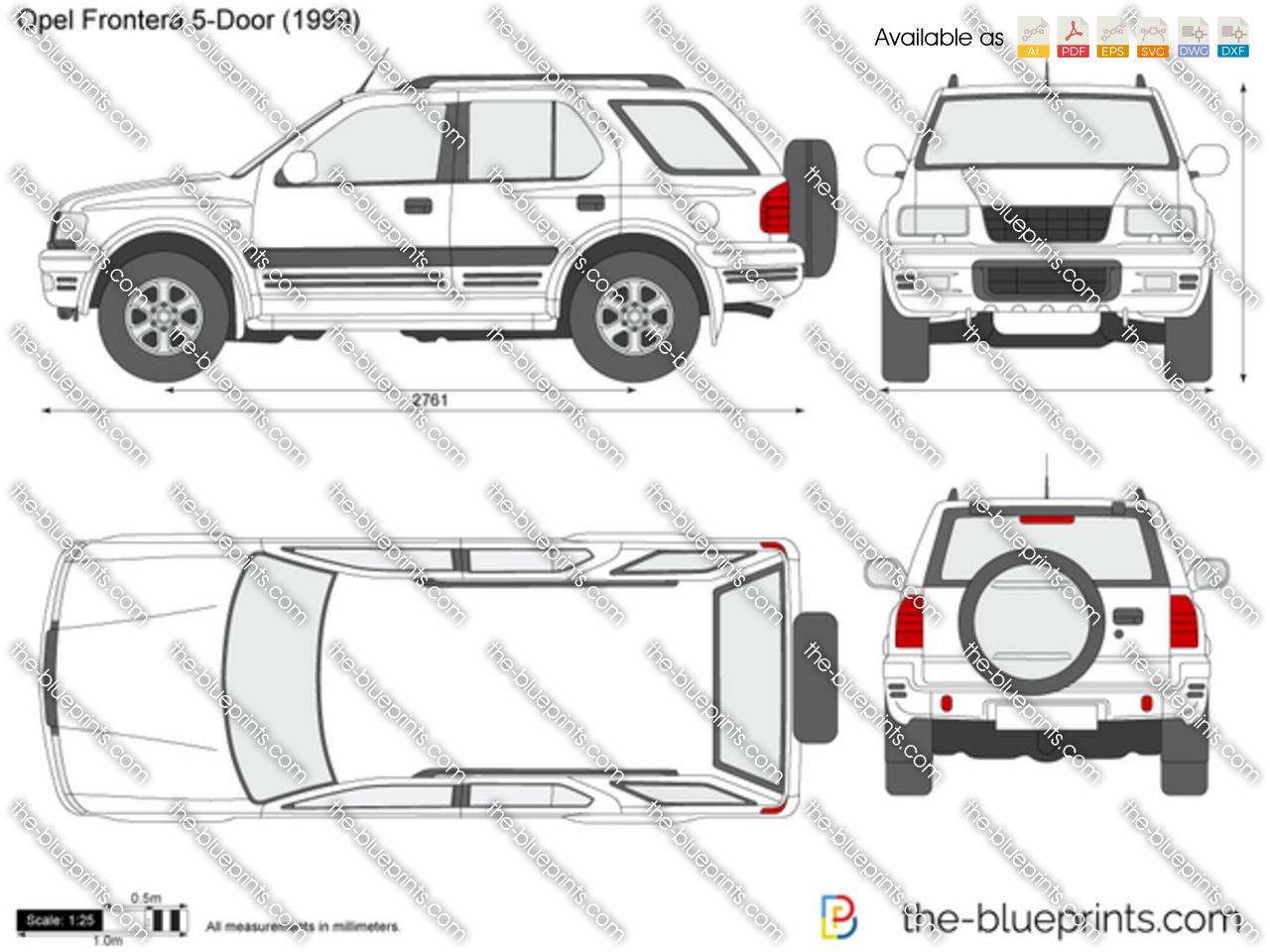 Opel Frontera 5 Door Vector Drawing