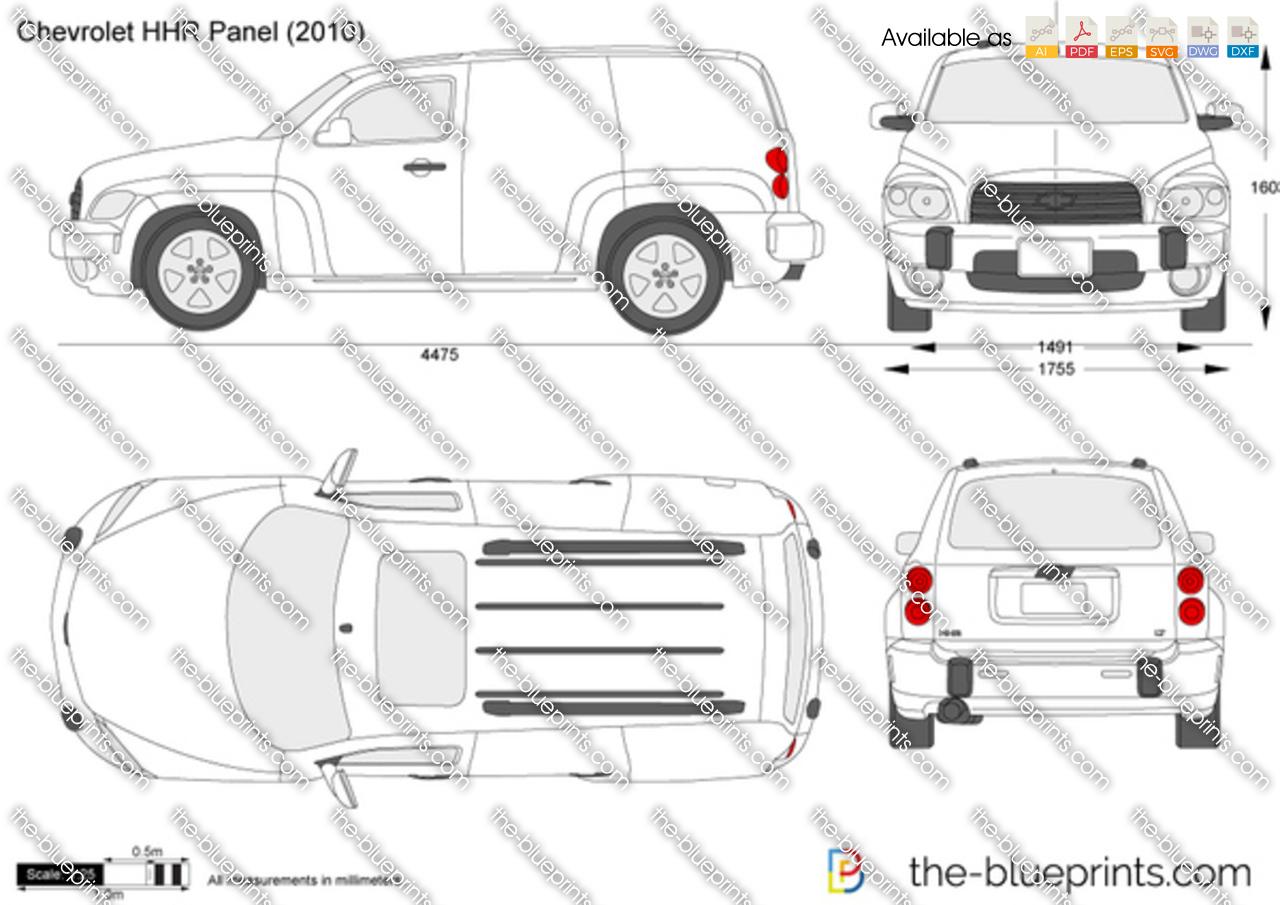 Chevrolet Hhr Panel Vector Drawing