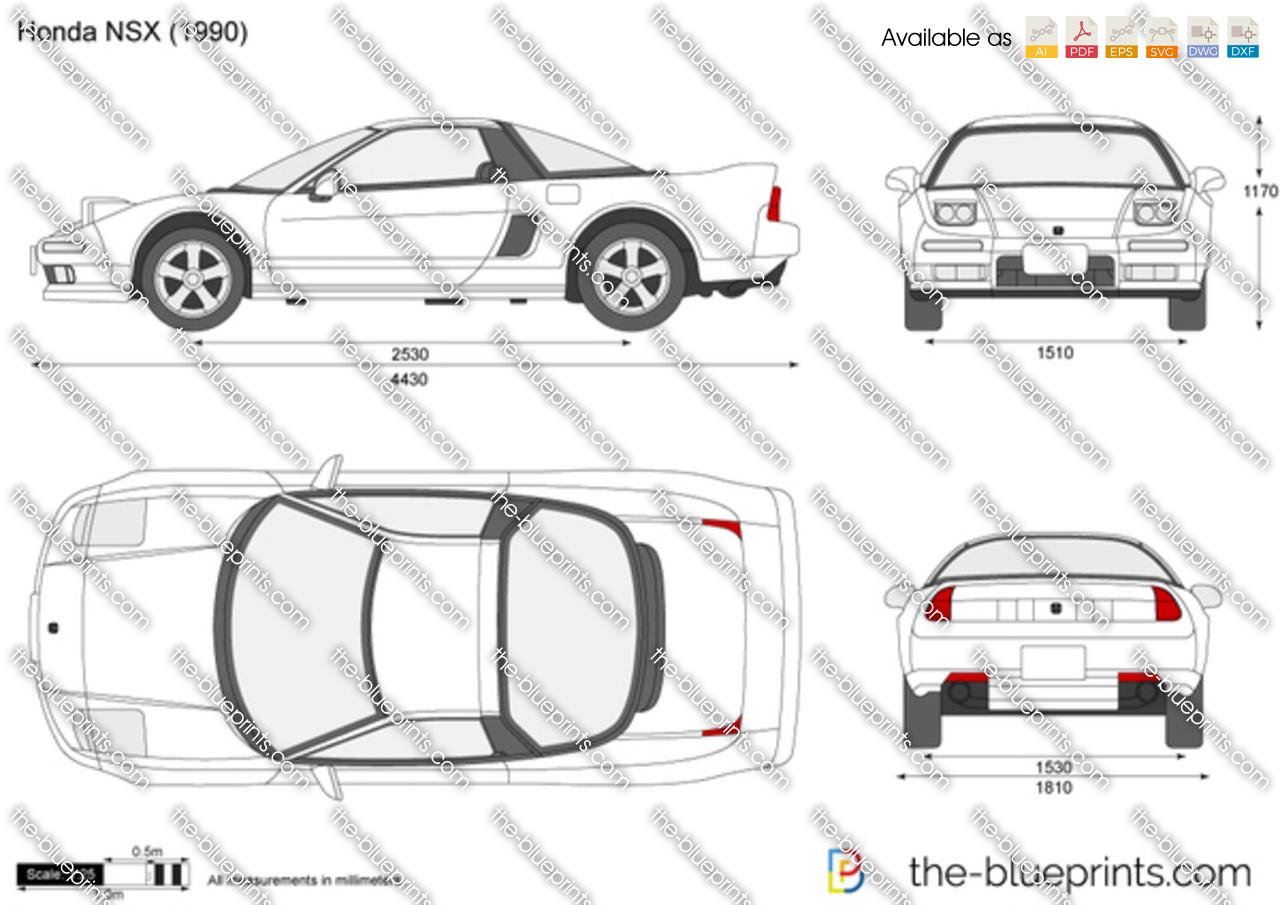 Honda Nsx Vector Drawing