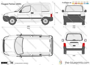 Peugeot Partner vector drawing