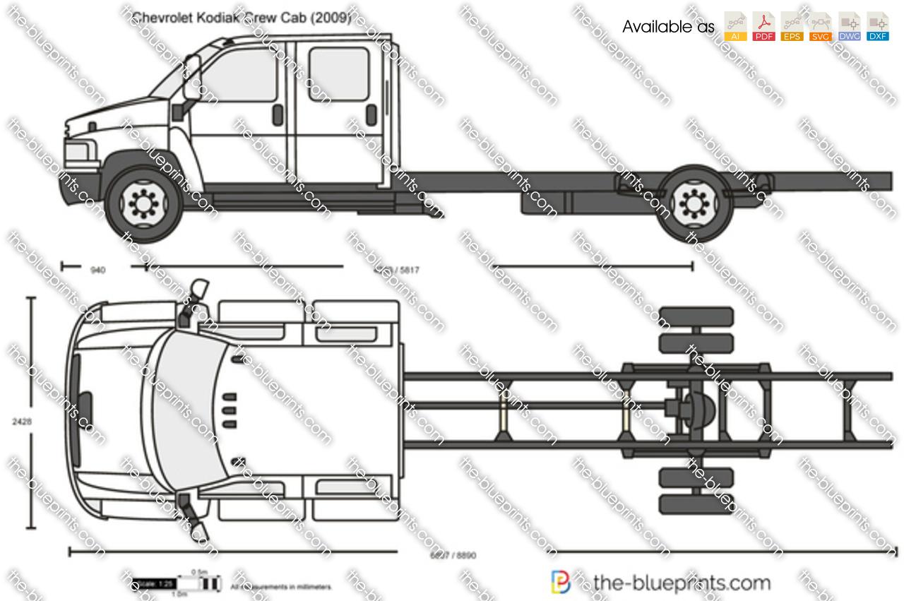 Chevrolet Kodiak Crew Cab Vector Drawing