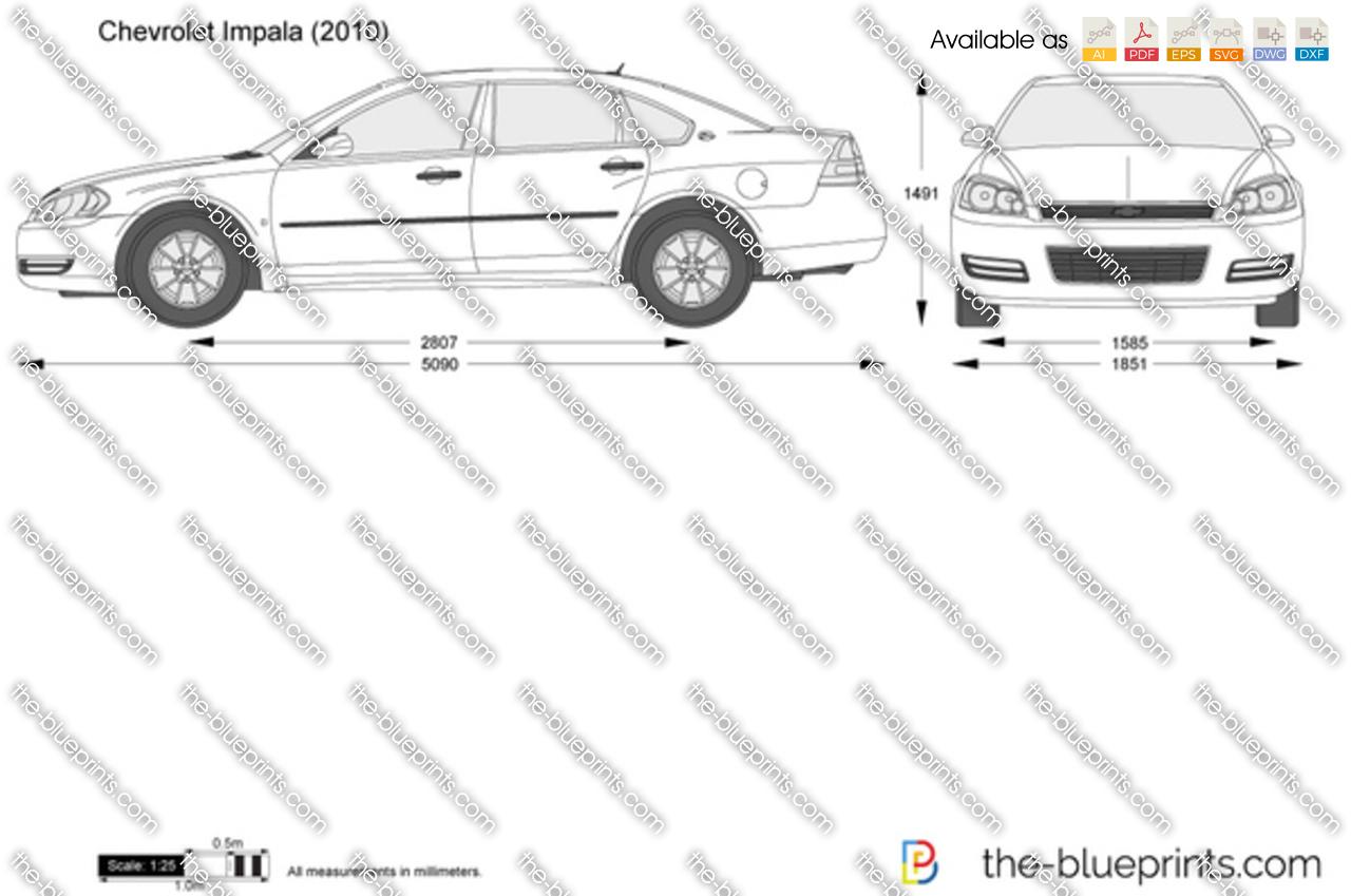 Chevrolet Impala Vector Drawing