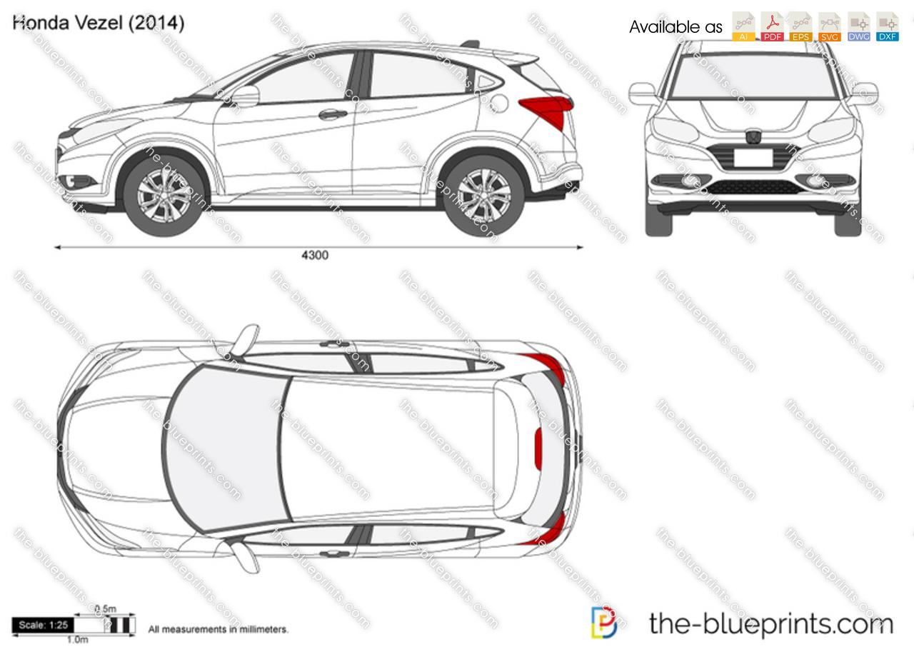 Honda Vezel Vector Drawing