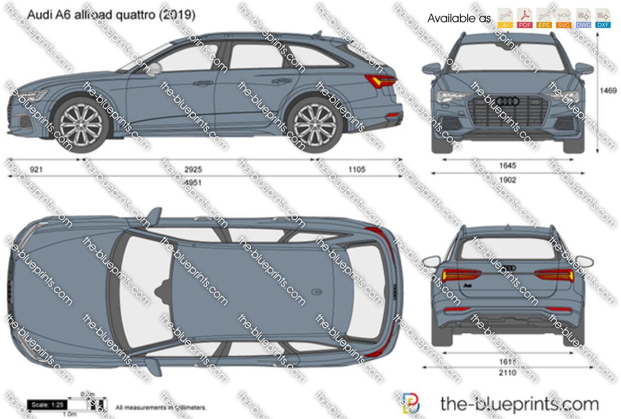 Audi A6 Allroad Quattro Vector Drawing
