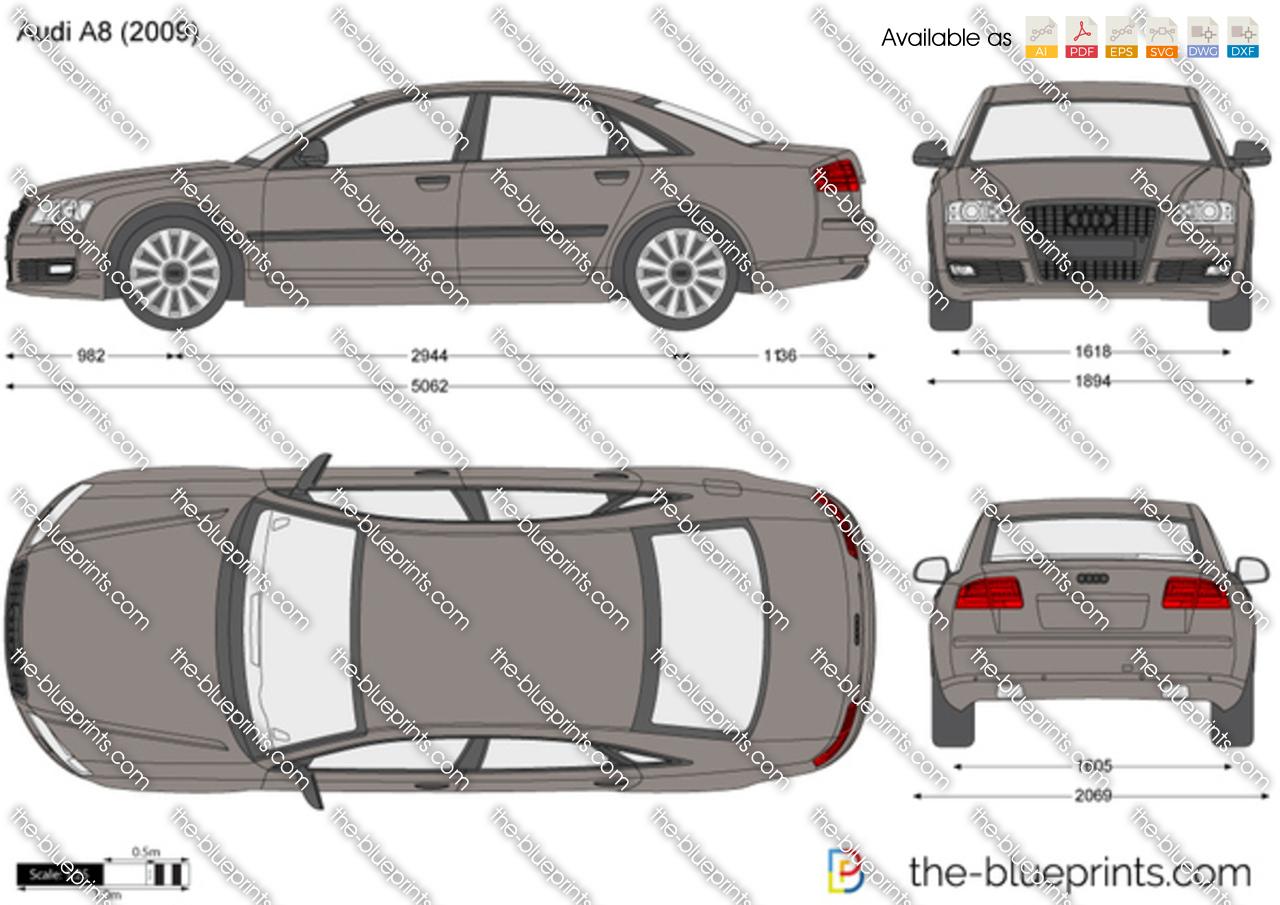 Audi A8 Vector Drawing