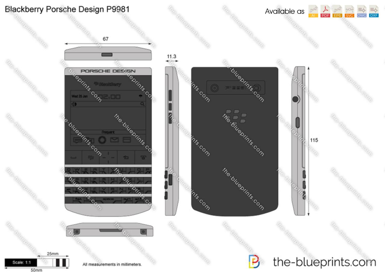 Blackberry Porsche Design P Vector Drawing