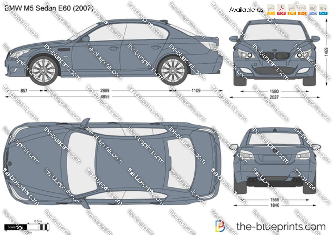Bmw M5 Sedan E60 Vector Drawing