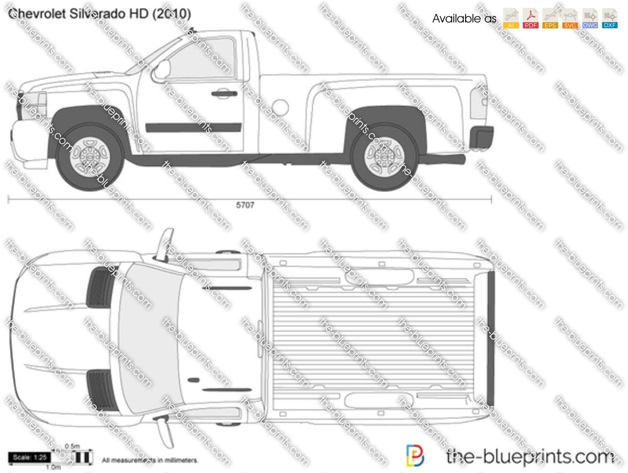 Chevrolet Silverado Hd Vector Drawing