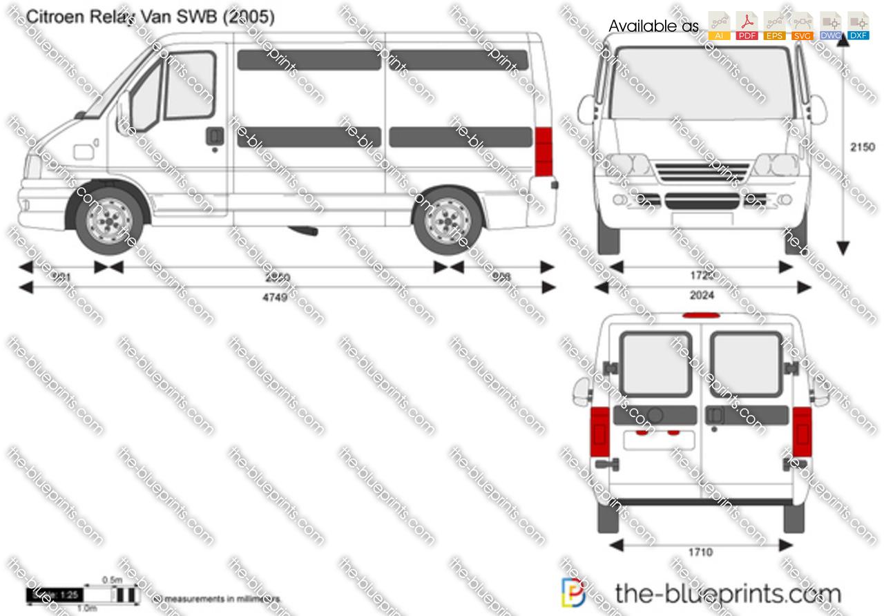 Citroen Relay Van Swb Vector Drawing