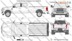 Ford F450 Super Duty Super Crew Cab vector drawing